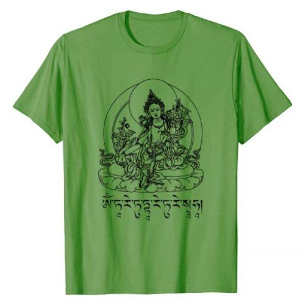 Buddhist Meditation Gifts Graphic Tshirt 1 Buddha Green Tara Mantra Tibetan Buddhism Vajrayana T-Shirt