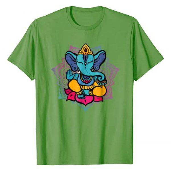 Ganesha Yoga Meditation Apparel Graphic Tshirt 1 Beautiful Ganesha in Yoga Lotus Meditation Mandala T-Shirt