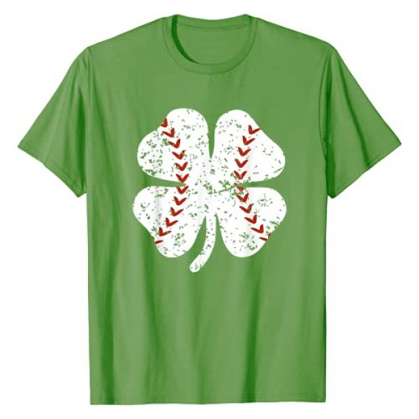 Mr Ben St Patricks Day Graphic Tshirt 1 Baseball Shamrock St Patricks Day Pitcher Hitter Boys Teens T-Shirt