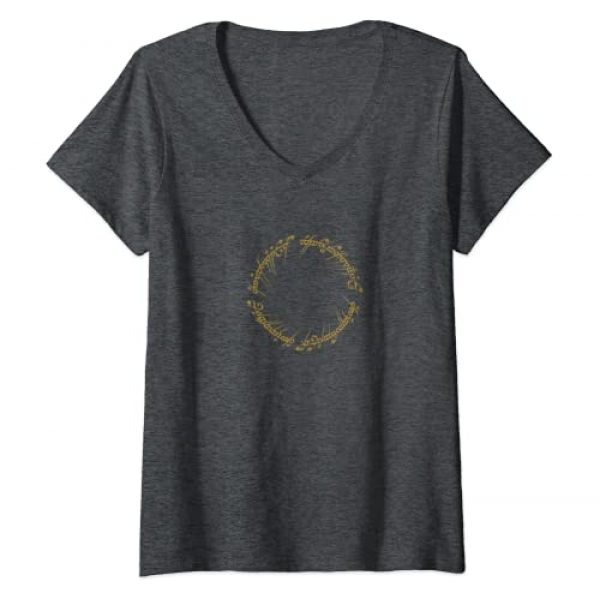 Warner Bros. Graphic Tshirt 1 Womens Lord of the Rings One Ring V-Neck T-Shirt
