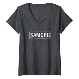 FX Networks Graphic Tshirt 1 Womens Sons of Anarchy Samcro V-Neck T-Shirt