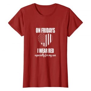 Cute Red Friday For My Son Tees Graphic Tshirt 1 Womens Deployed Son Shirt For Women Red Friday Military T-shirt
