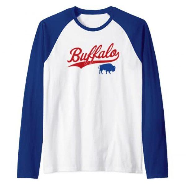 Buffalo Football Apparel Gifts Co. Graphic Tshirt 1 Vintage Buffalo-Football New York NY Sports Gift Raglan Baseball Tee