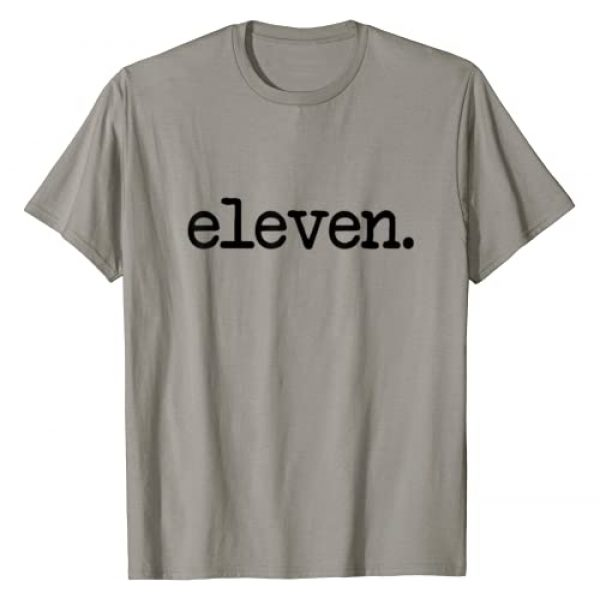 """11 Year Old Birthday Shirts Graphic Tshirt 1 11 Years Old """"eleven."""" - 11th Birthday Boys and Girls T-Shirt"""