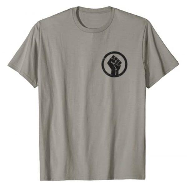 BLM Unity Design Graphic Tshirt 1 BLM Power Fist Black Lives Matter Power Fist Pocket T-Shirt