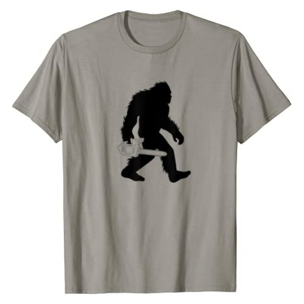 Sasquatch Chainsaw Gift T-Shirt Graphic Tshirt 1 Bigfoot Carrying Chainsaw T-Shirt, Lumberjack Sasquatch Tee