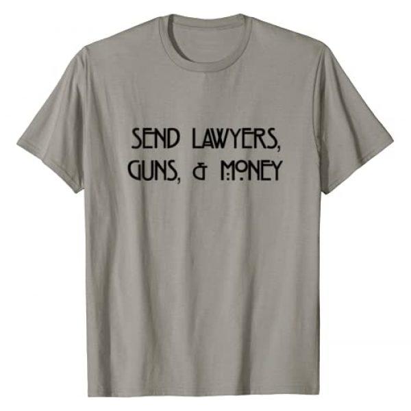 Outlaw Patriot Tees By Kid Diablo Graphic Tshirt 1 Send Lawyers, Guns, and Money Tee T-Shirt