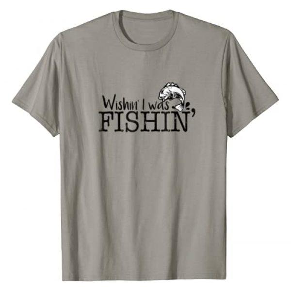 fishing dad Graphic Tshirt 1 Wishing I was Fishing T-Shirt