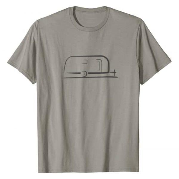 Vintage Trailer Gear Graphic Tshirt 1 Vintage RV Camper Trailer T-Shirt