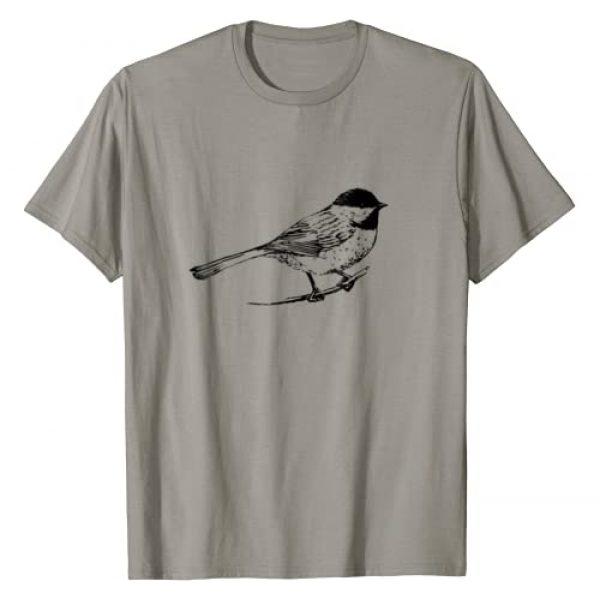 Nature Lover Birding Gift Graphic Tshirt 1 Chickadee Bird T-Shirt Nature Lover Birding Gift