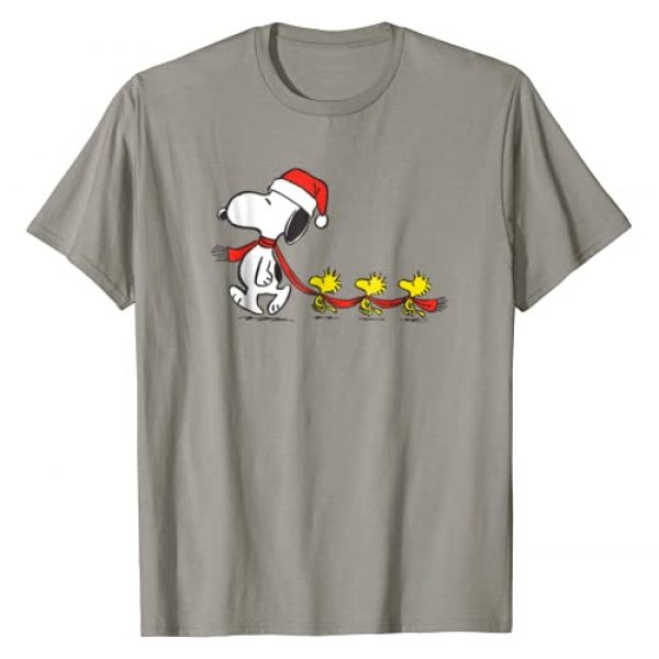 Peanuts Graphic Tshirt 1 Snoopy and Woodstock Holiday T-shirt