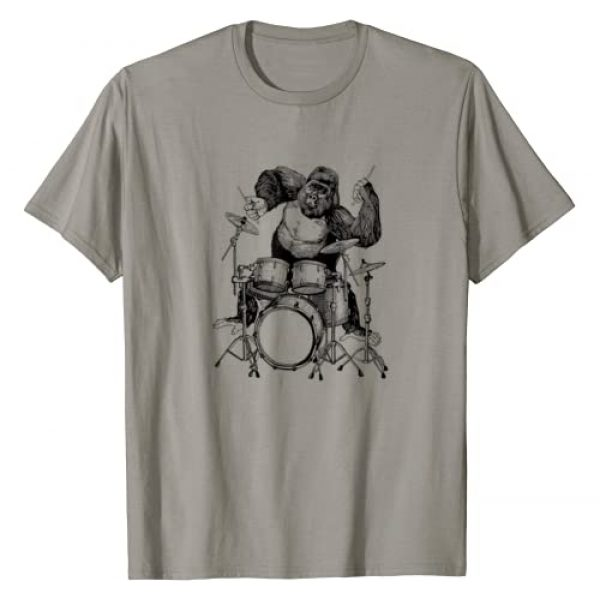 SEEMBO Graphic Tshirt 1 Gorilla Playing Drums Drummer Musician Drumming Band T-Shirt