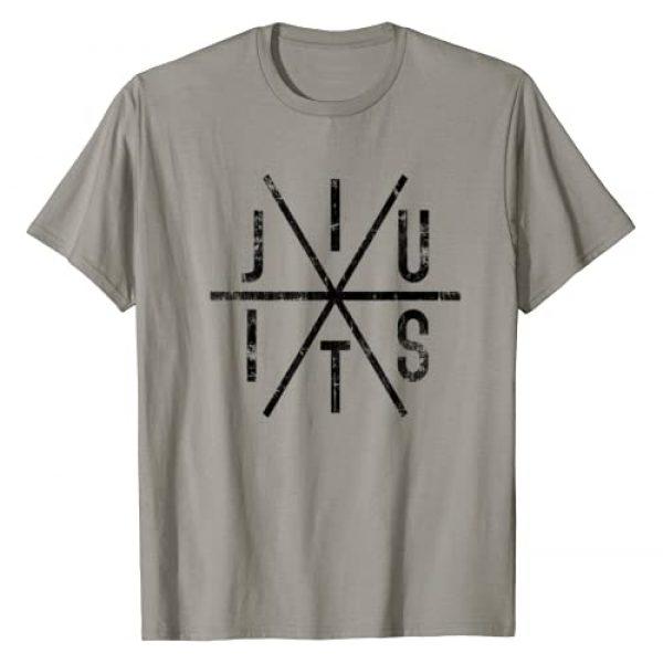BKDA - Martial Arts Graphic Tshirt 1 Brazilian Jiu Jitsu T-Shirt - BJJ Distressed Tee - Black Ink