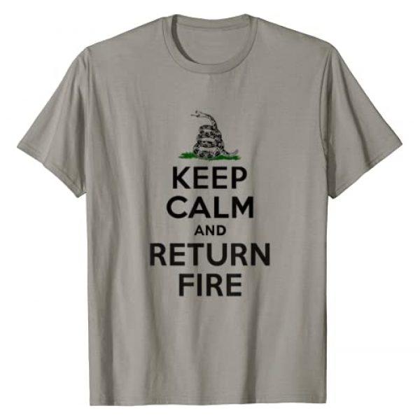 Politicz Graphic Tshirt 1 Keep Calm and Return Fire 2nd Amendment III% T-Shirt