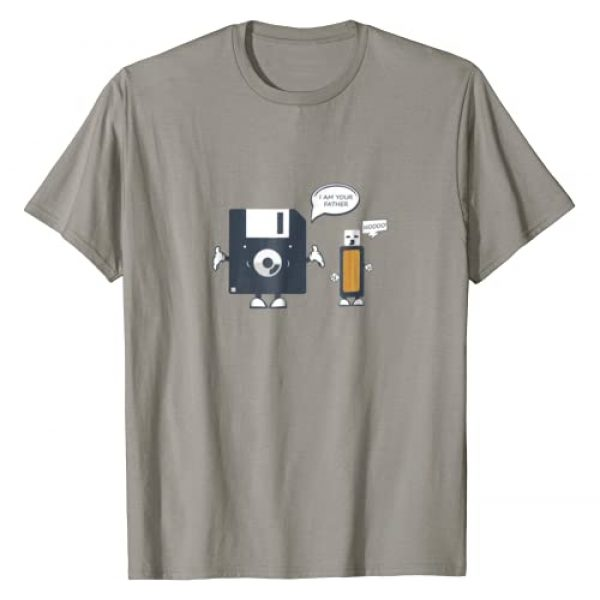 Funny Geeky Nerdy Computer Programmer Humor Graphic Tshirt 1 USB Floppy Disk I Am Your Father TShirt  Funny Nerd Geek Tee