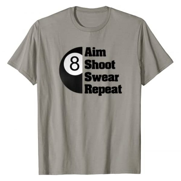 Billiard Novelty Apparel Graphic Tshirt 1 Funny Billiards 8-Ball Pool Player Gift T-Shirt