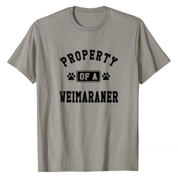 PupTeez Graphic Tshirt 1 Property Of Weimaraner - Funny Weimaraner Lover Shirt Gift