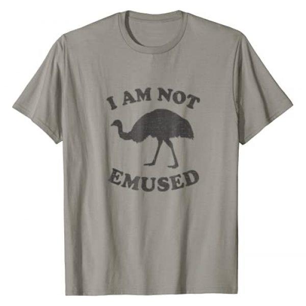 Funny Animal Pun Humor Cool Gift Idea Tee Shirts Graphic Tshirt 1 Funny NOT EMU-SED Emu T-Shirt Not Amused Ostrich Bird TShirt