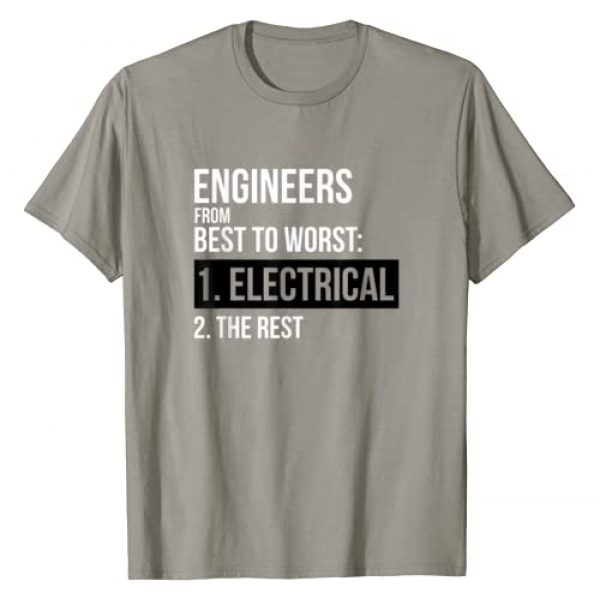 Awesome Engineering Shirts Graphic Tshirt 1 Engineers From Best To Worst Electrical Engineering T-Shirt