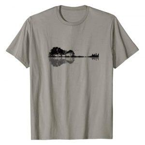 Guitar Player Musician Gift Ideas Graphic Tshirt 1 Acoustic Guitar Nature Forest Music Bass Guitarist Men Women T-Shirt