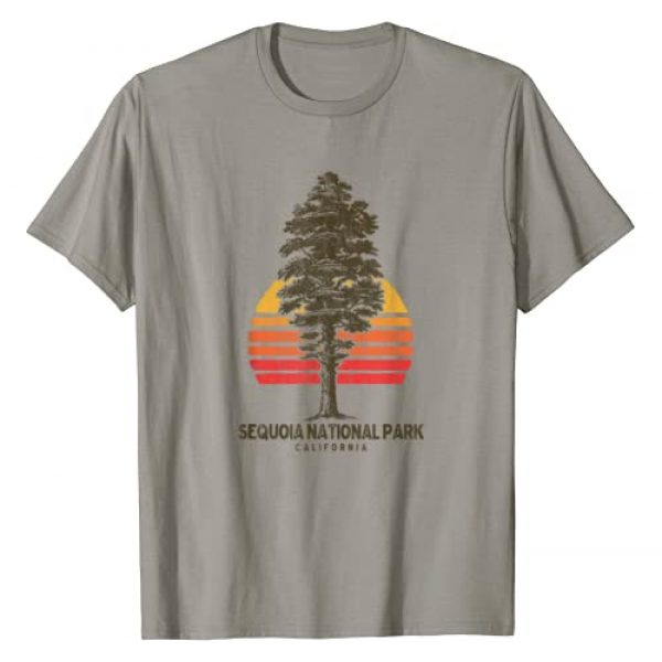 Out West Supply Co. National Park Threads Graphic Tshirt 1 Sequoia National Park Retro Tree Minimalist Graphic T-Shirt