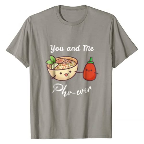 Valentine's Day Romance & Pho Tees Graphic Tshirt 1 You And Me Pho Ever Vietnamese Noodles Food Pun T Shirt