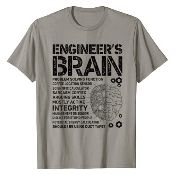 Engineering Facts Co Graphic Tshirt 1 Engineer's Brain Funny Process Engineer Men Engineering Gift T-Shirt