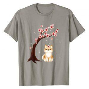Vintage Cherry Blossom Graphic Tshirt 1 Shiba Inu Dog Japanese Cherry Blossom Sakura Flower T-Shirt