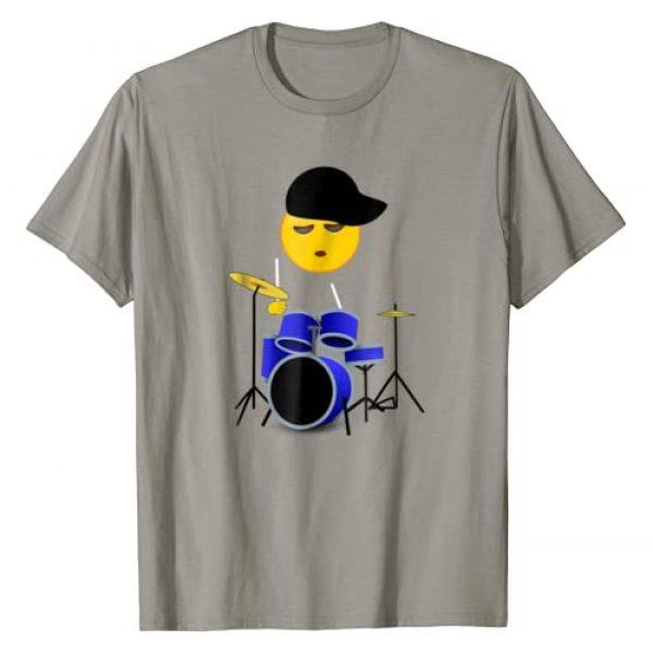 Drummer Gift Tees Graphic Tshirt 1 Funny Emoji Drummer Boy T-Shirt for Boys