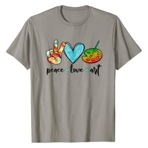 Peace Love Art Graphic Tshirt 1 Painting Palette Funny Art Teacher Gifts T-Shirt