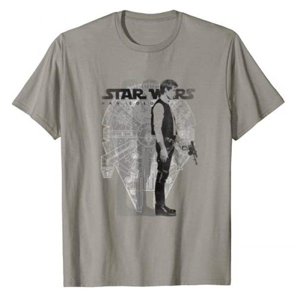 Star Wars Graphic Tshirt 1 Han Solo Shadow Repeater Graphic T-Shirt