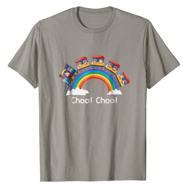 Kindergarten Graduate Style Tees Graphic Tshirt 1 Beautiful Train T Shirt Rainbow Choo Choo T-Shirt