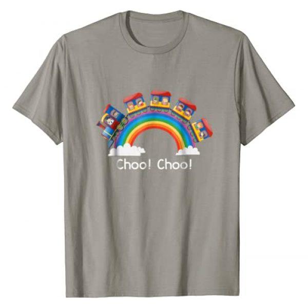 Kindergarten Graduate Style Tees Graphic Tshirt 1 Beautiful Train T Shirt Rainbow Choo Choo T-Shirt