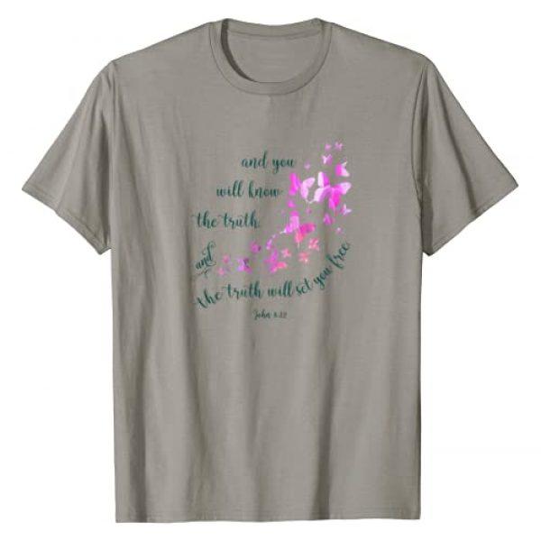 Christian Shirts by Walnut Creek Graphic Tshirt 1 Christian Bible Verse Butterfly T-shirts for Women and Girls
