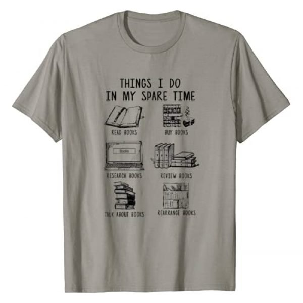 Things I Do In My Spare Time Read Books Graphic Tshirt 1 Funny Books Lover T-Shirt