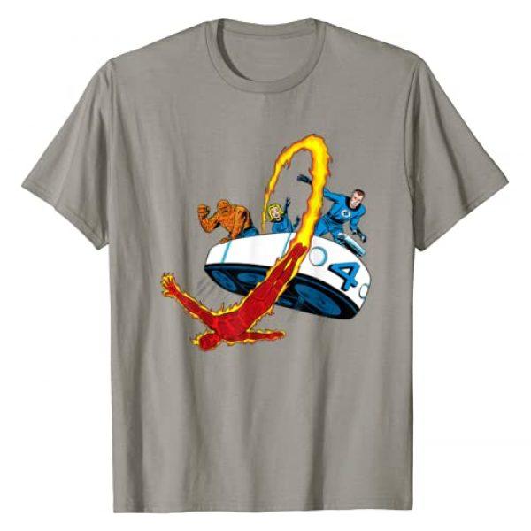 Marvel Graphic Tshirt 1 Fantastic Four Retro Fantasticar Team T-Shirt