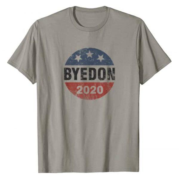Biden2020 (D) Graphic Tshirt 1 Bye Don 2020 ByeDon Button Funny Joe Biden Anti-Trump T-Shirt
