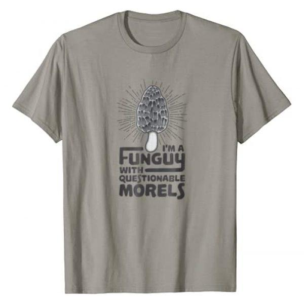 YeoYs Funny Mushroom Pun TShirt Gifts Graphic Tshirt 1 Funguy With Questionable Morels T-Shirt - Funny Mushroom Pun