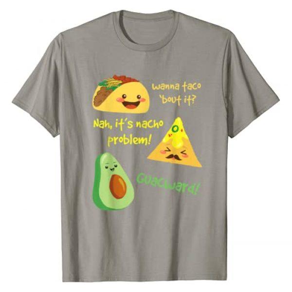 Spicy Tacos & Burritos Tees Graphic Tshirt 1 Wanna Taco Bout It, Nacho Problem! Funny Avocado Food Pun T-Shirt