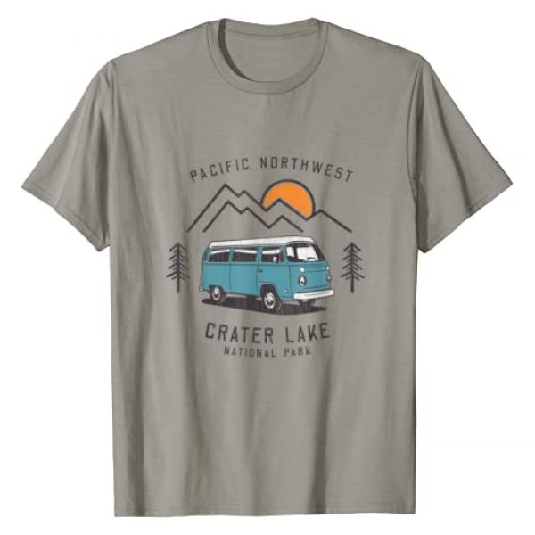 Pacific Northwest Adventure Company. Graphic Tshirt 1 Retro Pacific Northwest Vacation - Crater Lake National Park T-Shirt