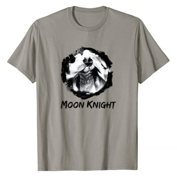 Marvel Graphic Tshirt 1 Moon Knight Paint Smudge Print Graphic T-Shirt