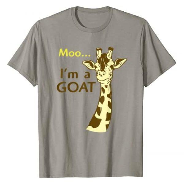 Cool Giraffe Shirts Graphic Tshirt 1 Funny Confusing Giraffe Moo I'm A Goat T Shirt