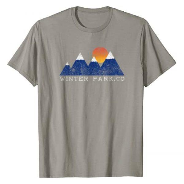 Unknown Graphic Tshirt 1 Retro Winter Park Colorado Snowcap Mountain Sunset T-Shirt