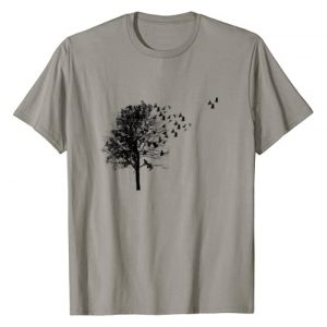 """We love trees and birds Graphic Tshirt 1 """"Tree and bird"""" T-shirt Nature black graphic T-Shirt"""