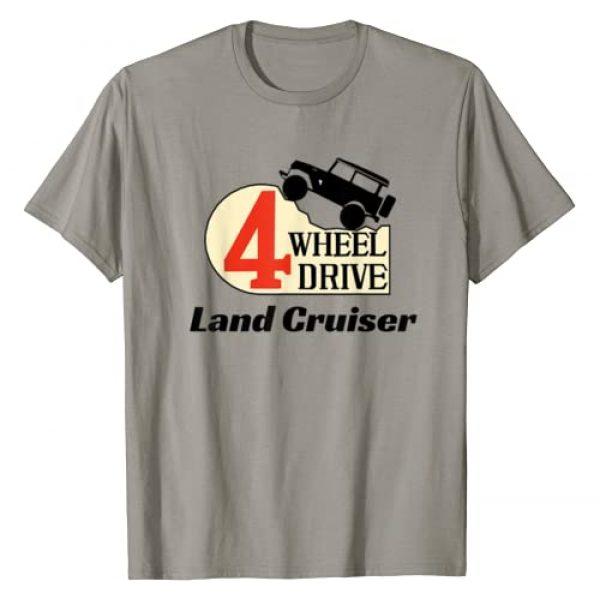 Huv Land Cruiser FJ40 Shirt Designs Graphic Tshirt 1 4 Wheel Drive Land Cruiser T-Shirt