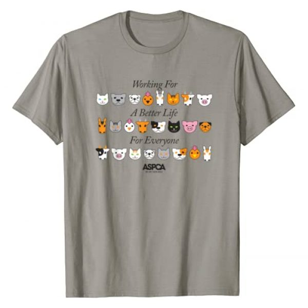 ASPCA Graphic Tshirt 1 Working For A Better Life For Everyone T-Shirt