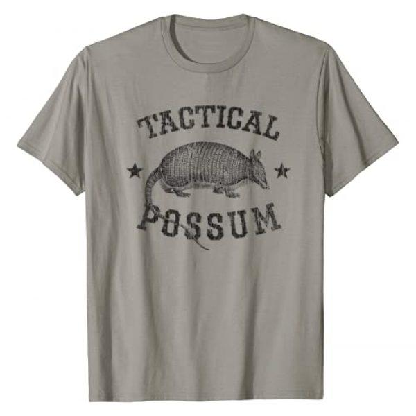 Punny Animals by Big Ray Designs Graphic Tshirt 1 Tactical Possum Armadillo Animal Pun Texas Funny T-Shirt