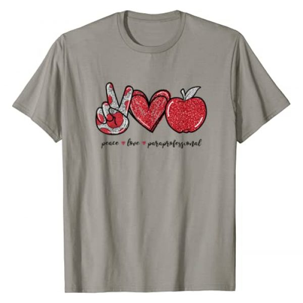Peace Love Apple Paraprofessional Graphic Tshirt 1 Gifts For Women T-Shirt