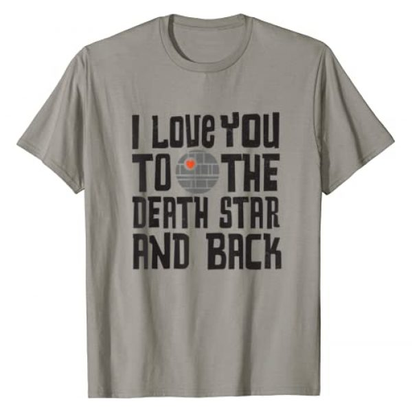 Star Wars Graphic Tshirt 1 Valentine's Day I Love You to the Death Star T-Shirt