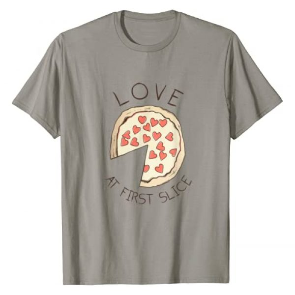 Check out my other Pizza T-shirts Graphic Tshirt 1 Love At First Slice T-shirt | Pizza Quote Tee T-Shirt